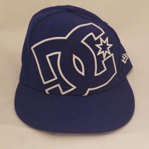 Vintage New Era DC Blue Sz 7 Fitted Hat